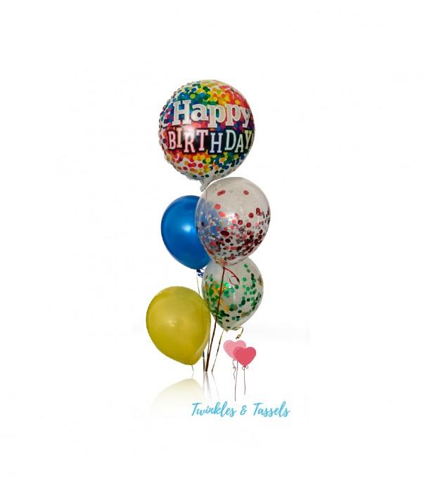 Happy Birthday Colour Pop Balloon Bouquet