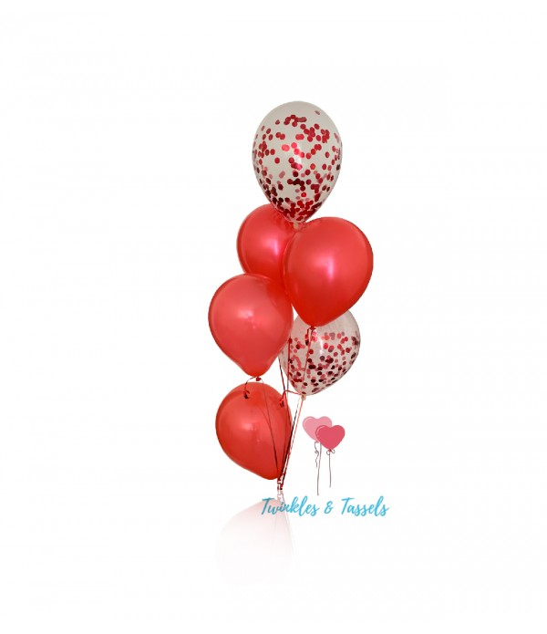 All Red Balloon Bunch