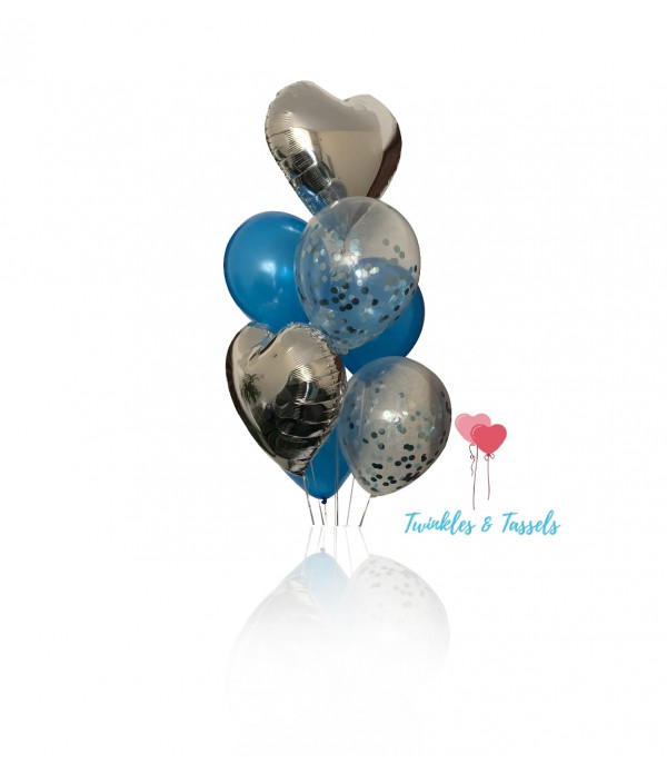 Silver Passion Balloon Bouquet