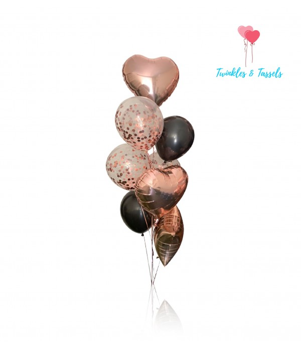 Rose Gold Glamour Balloon Bouquet