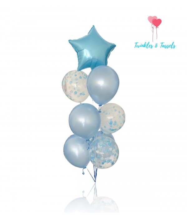 Light Blue Star Foil Balloon - 18""
