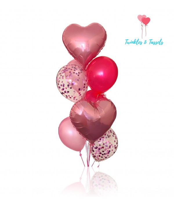 Pink Passion Balloon Bouquet