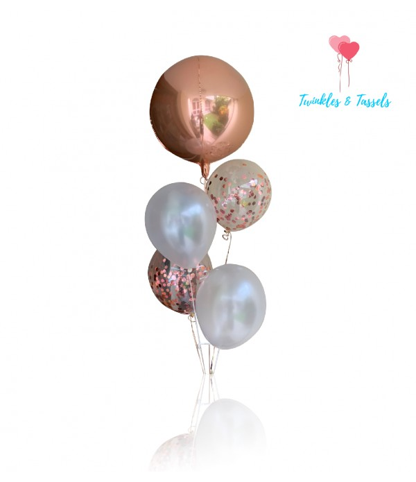 Luxe Rose Gold Shimmer Balloon Bouquet