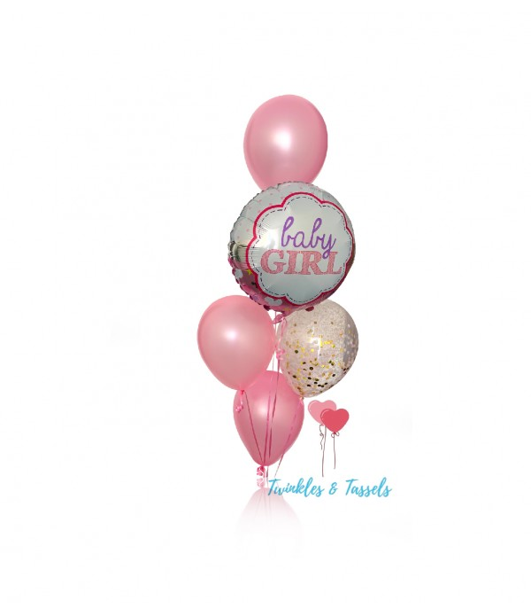 Bundle of Joy Baby Girl Balloon Bouquet