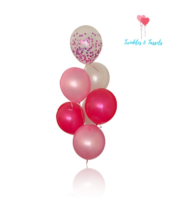 Pink Ombre Balloon Bunch