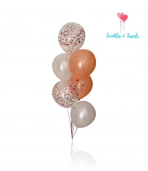 Rose gold & White Mix Balloons