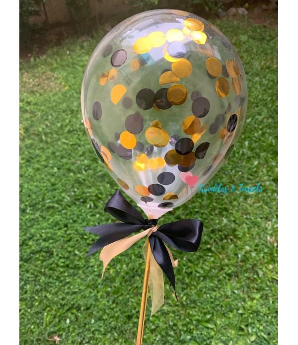 Confetti Balloon Cake Topper