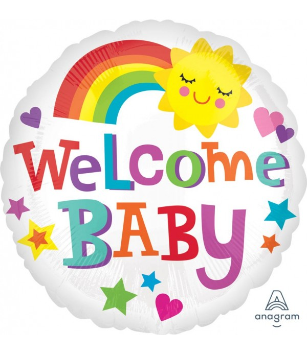 Welcome Baby Sunshine Foil Balloon