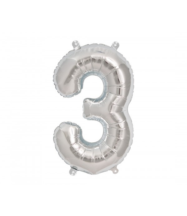 Giant Silver Number Balloon