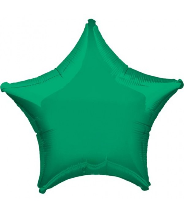Green Star Foil Balloon - 18""