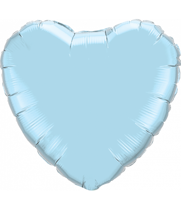 Light Blue Heart Foil Balloon - 18""