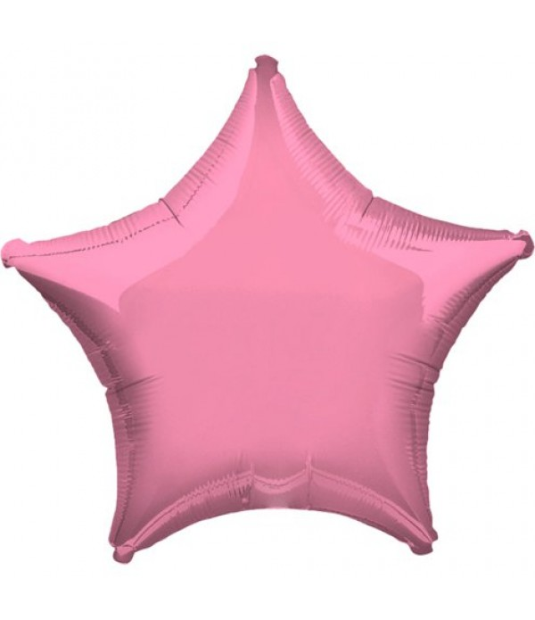 Pink Star Foil Balloon - 18""
