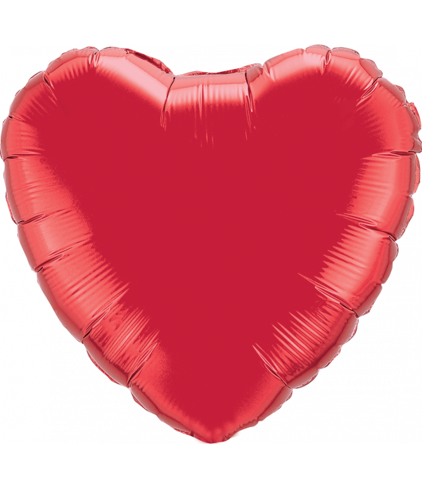 Red Heart Foil Balloon - 18""