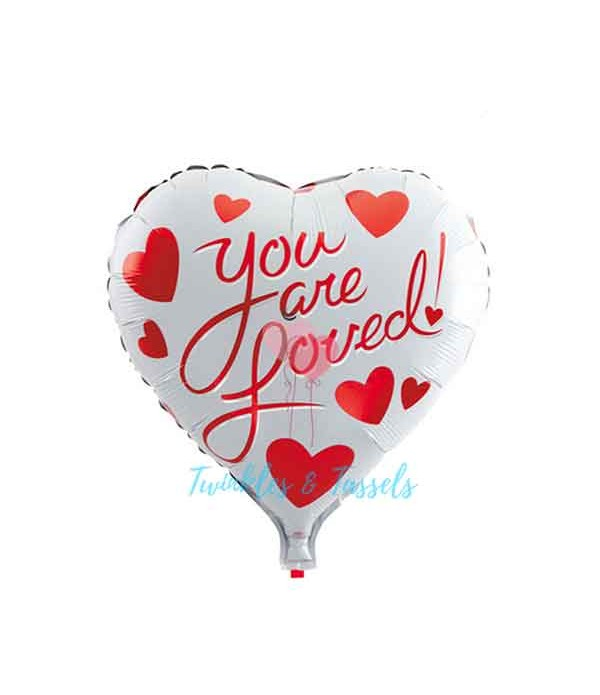 You are loved Heart Balloon