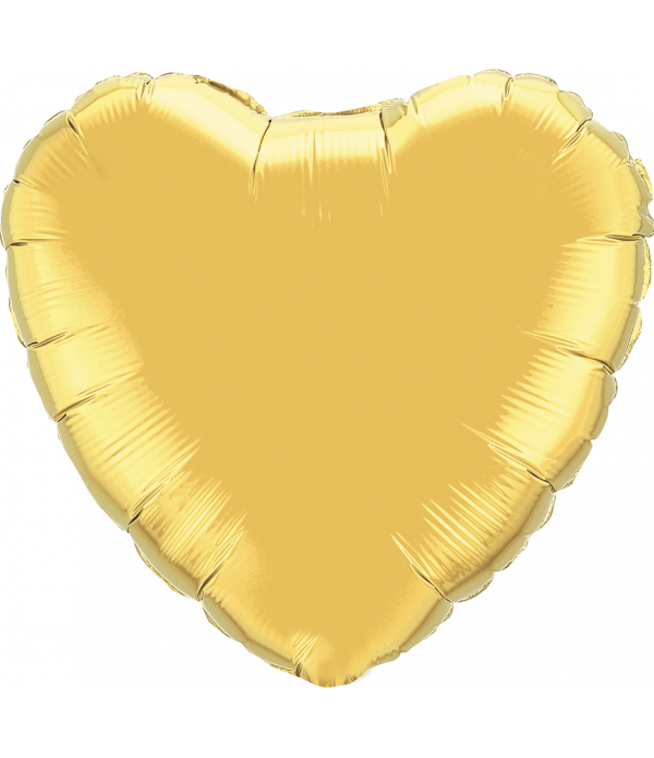 Gold Heart Foil Balloon - 18""