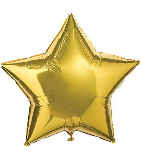 Gold Star Foil Balloon - 18""