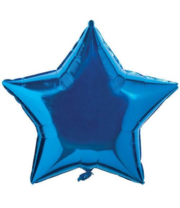 Saphire Blue Star Foil Balloon - 18""
