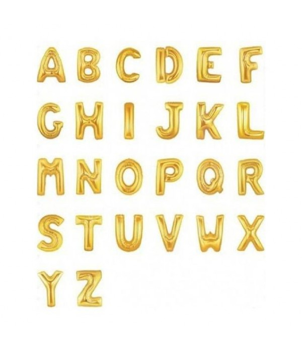 """Gold Letter Balloons 16"""""""