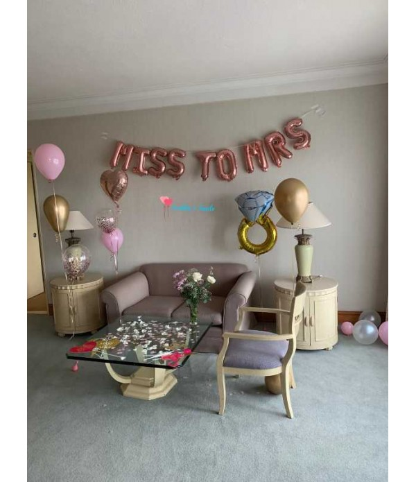 Miss to Mrs Rose Gold Balloon Banner
