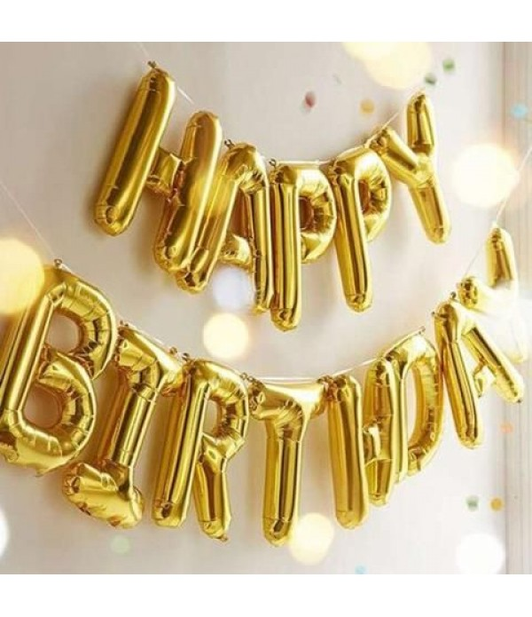 Happy Birthday Foil Balloon Banner