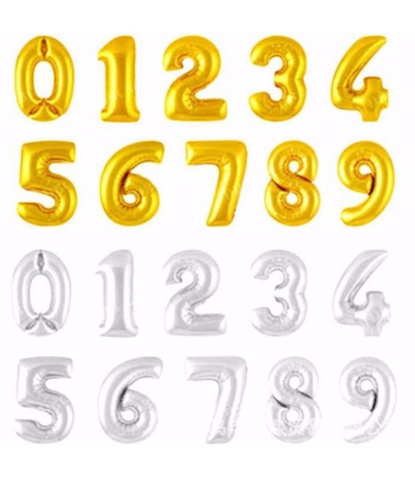 "16"" Foil Number Balloons"