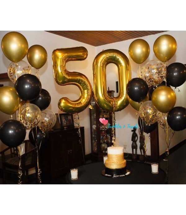 Giant Gold Number Balloon