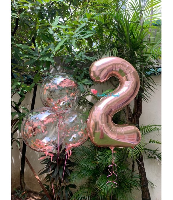 Giant Rose Gold Number Balloon