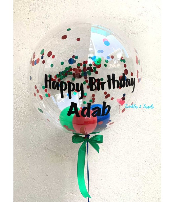 Personalised Deco Bubble Balloon - Helium