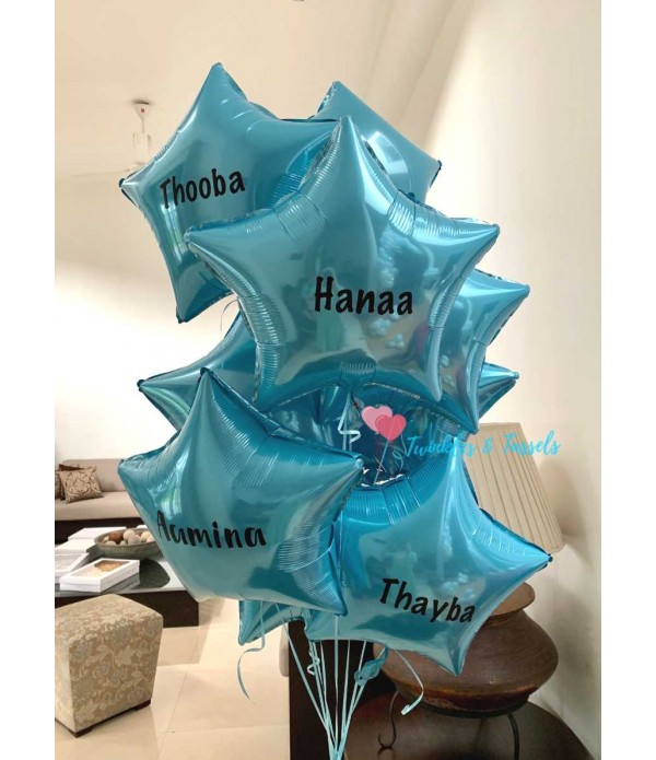 Personalised Star Foil Balloon - Helium