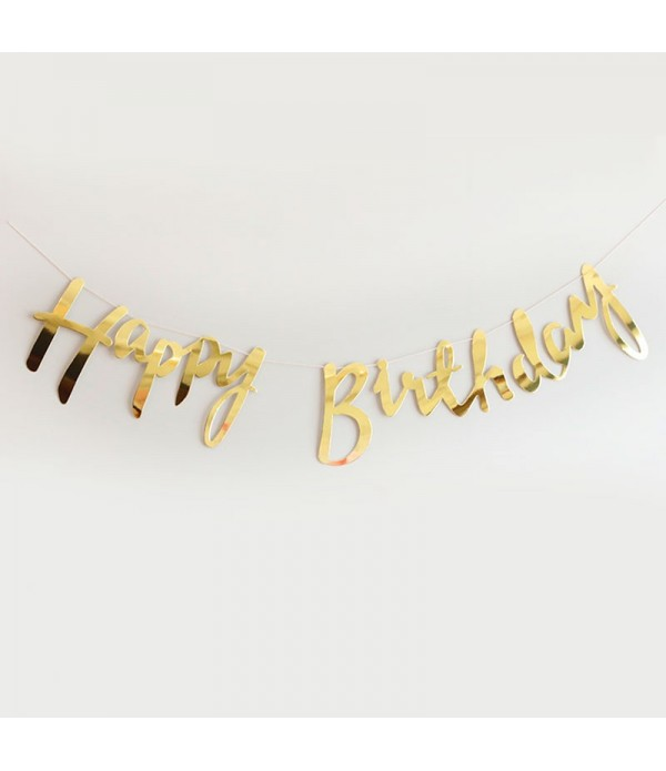 Happy Birthday Gold Foil Bunting