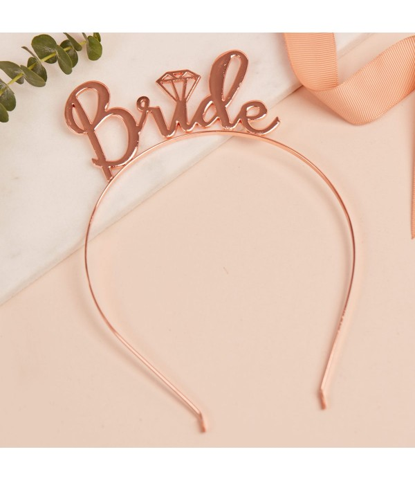Bride Headband - Rose Gold